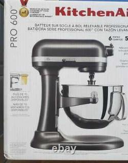 Kitchenaid Professional 600 Series 10 Speed 6 Qt. Mélangeur De Support Kp26m1xqg Nouveau