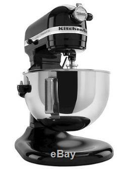 Kitchenaid R-kg25h0xob Pro Hd 475 Watts Tous Métal 5 Pintes Batteur Sur Socle Onyx Noir