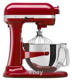 Kitchenaid Rrkp26m1xer Pro 600 Hd Stand Mixer 6 Qt Big Red Pro 6000 Montage Spécial