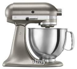 Kitchenaid Stand Mixer Incliner 5-qt Rrk150cs Refurb Artisan Cocoa Argent