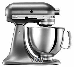 Kitchenaid Stand Mixer Tilt 5-qt Rrk150qg Refurb R-ksm150psqg Graphite Liquide