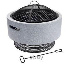 Koopman Grand Fire Bowl & Bbq 52cm Garden Patio Outdoor Heating Camping Bbq