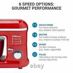 Mélangeur De Support Électrique Alimentation Multi Mélangeur De Bol Beater Dough 2-en-1 1300w 7l