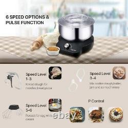 Mélangeurs D'aliments Compacts Avec Bol De Mélange 5qt Pour Pain Et Dough Électrique 600 Watts