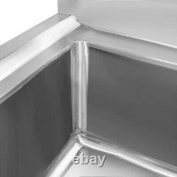 Nouveau Sink Commercial Simple En Acier Inoxydable De Cuisine Bol Restauration Table De Préparation