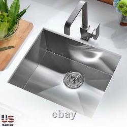 Nouveau Topmount / Undermount Stainless Steel Single Bowl Kitchen Sink Taille Assortie