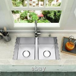 Primart 27x16 Pouces Double Bowl En Acier Inoxydable Undermount Eviers Rv Sink