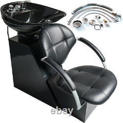 Pro Backwash Shampoo Chair Ceramic Bowl Fibre De Verre Base Unité Salon Spa Équipement