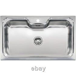 Reginox Jumbo Single Bowl Stainless Steel Chrome Inset Kitchen Sink Jumbo