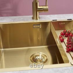 Reginox Miami Stainless Steel Sink Gold Finish Single Bowl 500 X 400 Déchets Gratuits
