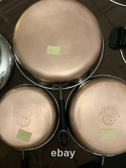 Revere Ware Copper Bottom 20 Pieces Set Vintage Pots & Pans Cuisinière