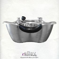 Shampooing Bowl Poli Évier En Acier Inoxydable Shampooing Pour La Beauté Salon Tlc-1368