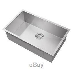 Simple 30x18x9 En Acier Inoxydable Bowl Undermount Kitchen Sink Bassin
