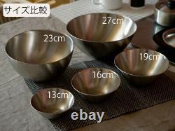 Sori Yanagi Bol Inoxydable 5 Pcs Du Japon Nouveau