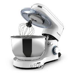 Stand Mixer Électrique 660w 7qt Tête Inclinable Mitigeur De Cuisine Machine 6 Vitesses Blanc