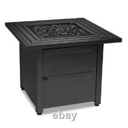 Table Sans Fin De Foyer Extérieur De Gaz Propane De 30 Pouces Avec Le Verre Noir De Feu