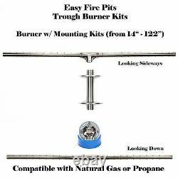 Tb26k Diy Fire Pit Kit 26 Long Fire Table/ Trough Burner W Kit De Montage Ss316