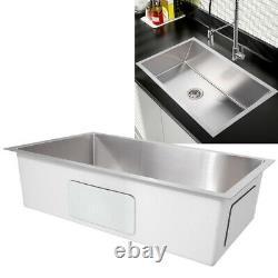 Undermount Single Bowl Kitchen Sink 304 Évier De Cuisine Topmount En Acier Inoxydable