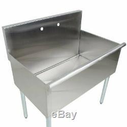 Utilitaire Autoportant En Acier Inoxydable Calibre 16 36 Commercial Sink X 21 X 14 Bowl
