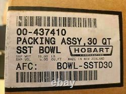 Véritable Bol De Mélange En Acier Inoxydable 30 Quartz Bowl-sstd30 Hobart Pour Mélangeurs D300