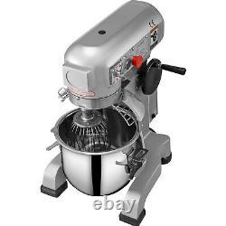 Vevor Commercial 15qt Dough Food Mixer Three Speed Gear Driven Pizza Bakery 600w
