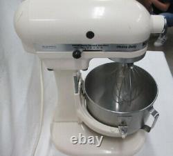 Vintage Heavy Duty Kitchenaid 10 Speed Stand Mixer Off White Works Great! (sp)