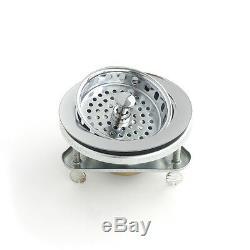 Volfen 36 En Acier Inoxydable Ferme Tablier Sink Double Bowl + Gratuit Passoire
